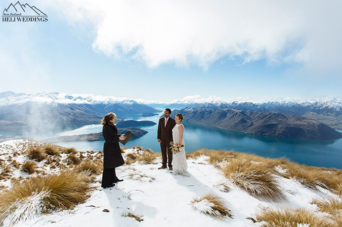 Spring wedding ceremony , Heli Wedding Ceremony, Wanaka