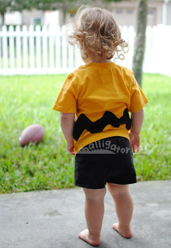 Charlie Brown Shirt Charlie Brown Costume Baby Charlie Brown Yellow and Black Toddler Halloween Costum Baby Halloween Costume. $18.00, via Etsy.