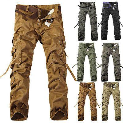 Military New Men's Cargo Camo Combat Work casual Pants Military Trousers Slacks