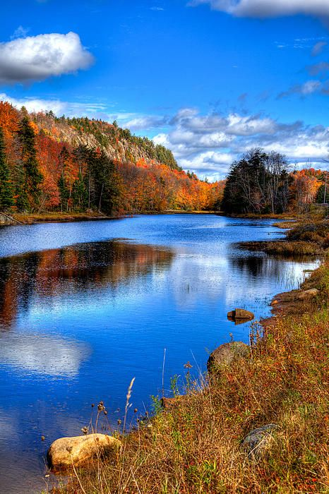 Bald Mountain Pond near Old Forge, New York - The Adirondack Region by David Patterson