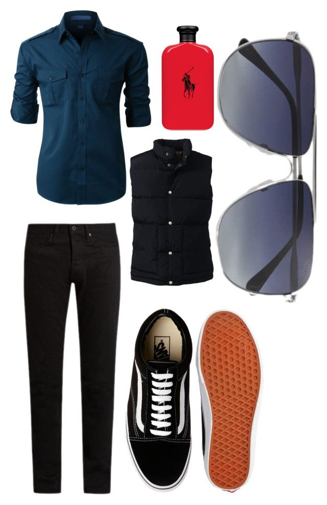 """""""Out and About"""" by mlpcsgolife on Polyvore featuring LE3NO, Lands' End, KURO, Vans, Ralph Lauren, Tom Ford, men's fashion and menswear"""