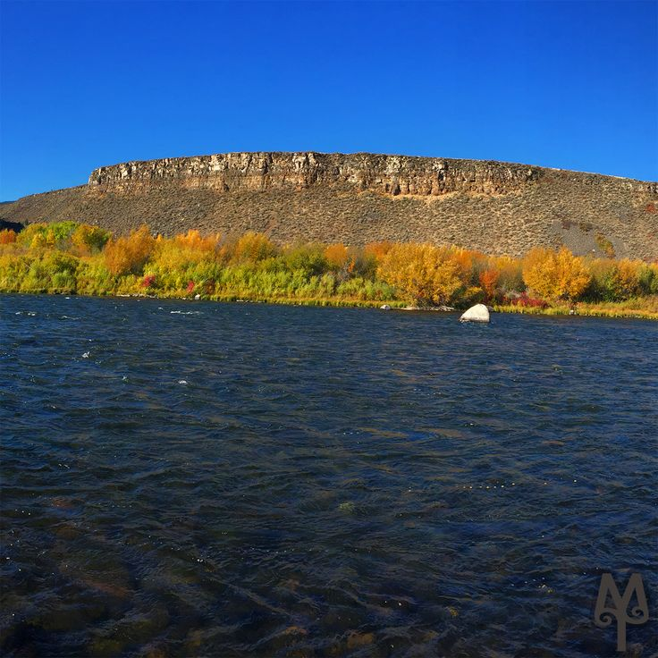 Fall Fly Fishing in Trout Country...View a photo map of this Madison River destination (known as the Palisades) by selecting Menu item 'M22' on the FREE Photo Map.