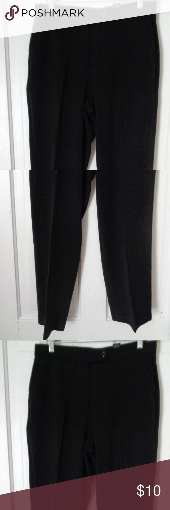 """Investments Petites Black Dress Pants Size 6P Investments Petites Black Dress Pants Size 6P Polyester Rayon Spandex The have some stretch Waist 14"""" flat Inseam 29"""" Rise 11"""" Leg opening 7 3/4"""" Very nice condition Beautiful pants. Dress up down. P16 Investments Petites Pants Trousers"""
