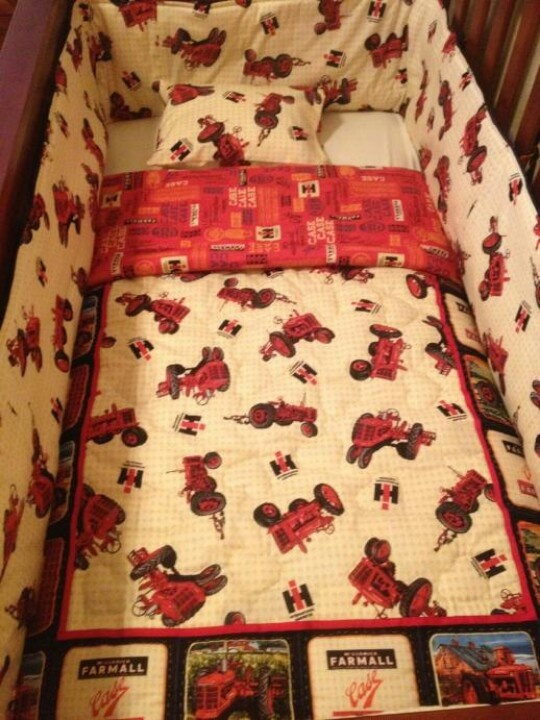 Mr. Case's tractor bedding
