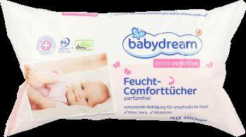 babydream, Extrasensitive, chusteczki nawilżane dla dzieci, 80 szt., nr.kat. 69327 - Internetowa drogeria Rossmann - Zakupy online