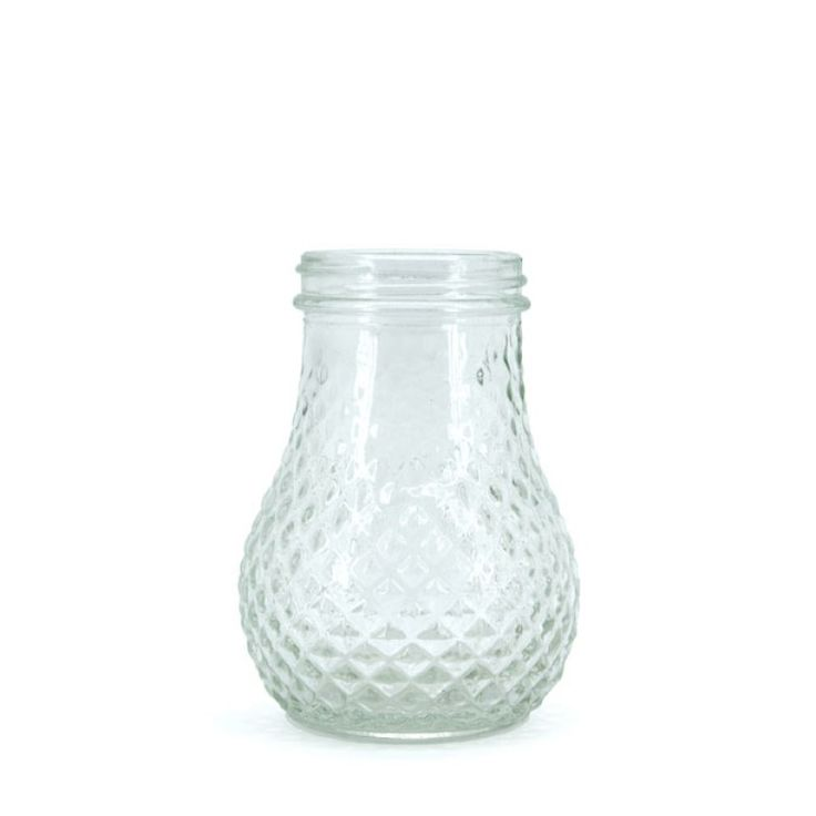 Glass Pineapple Jar 4.9TDx7.6Wx10.6H cm - Clear (02-M-0711) | Oceans Floral-We stock competitively priced quality glassware in a large range of styles. Whether you need glass vases, fish bowls, bottles and jars, hanging vases or an elegant showcase piece, we have the latest styles and a fantastic variety of glass vessels to cover all occasions. Weddings, DIYwedding, Centrepiece, Event planning.