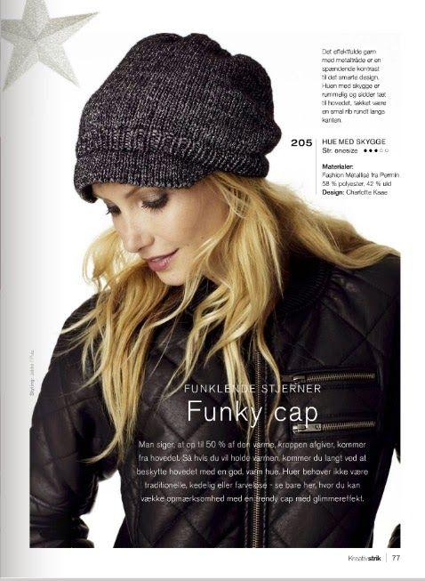 Funky Cap, Charlotte Kaae design for Kreativstrik nr 6, www.bykaae.dk