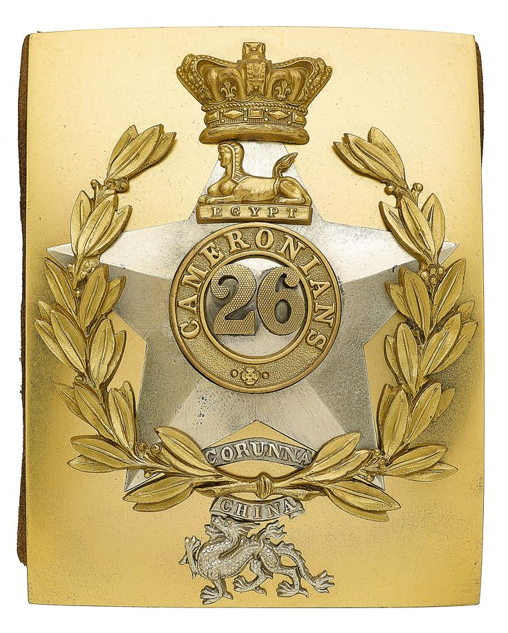 British; 26th (Cameronians) Regiment of Foot, Officer's Shoulder Belt, 1843-55