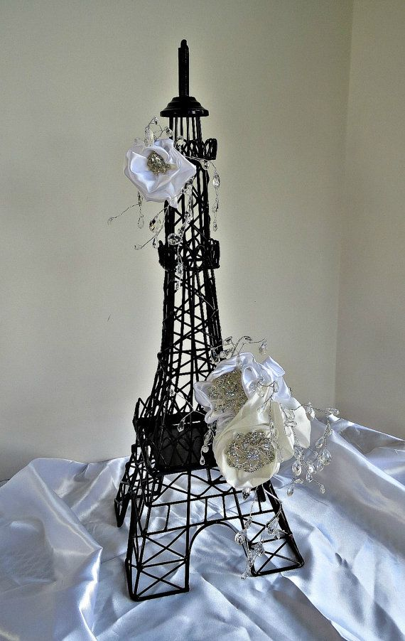Eifffel Tower Party centerpiece, a statement Parisian centerpiece for wedding reception, Parisian themed Bridal shower and Baby Shower. on Etsy, $68.00
