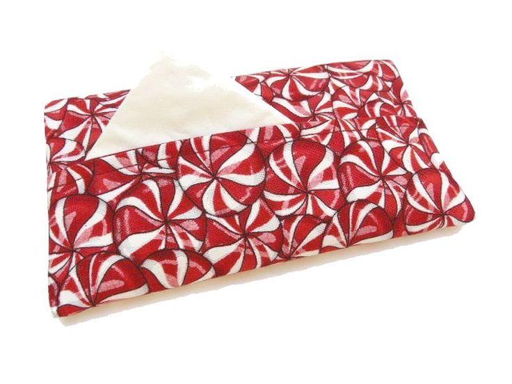 Taschentüchertasche Candy rot-weiße Bonbons Tatüta von Silwarin auf DaWanda.com