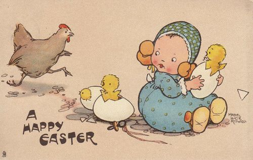 Easter card by Mabel Lucie AtwellLucy Atwell, Easter Cards, Easter Parade, Vintage Easter, Mabel Lucy Attwell, Easter Theme, Mabel Lucie Attwell, Happy Easter, Lucy Mabel Attwell