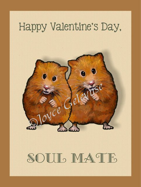 8 best images about WANT – Hamster Valentine Cards