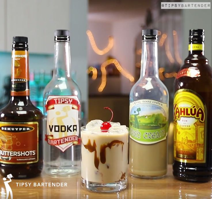 Buttery Finger Cocktail - For more delicious recipes and drinks, visit us here: www.tipsybartender.com