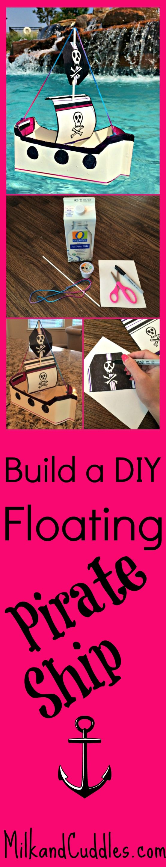There's just something about boats that just draws kids in! Perhaps, because boats are a symbol of freedom and adventure – every child I know is fascinated with them. This DIY Ship is both easy to make, and cheap! It uses products you are likely to have laying around your house, like a milk carton or K-Cups. It even floats!  #recycled #upcycle #kidsactivity #craft