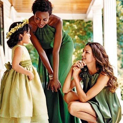love this green bridal party: Green Bridesmaids, Dresses Green, Bridesmaids Dresses, Fall Weddings, Shorts Dresses, Bridal Parties, Shades Of Green, Green Bridesmaid Dresses, Green Wedding