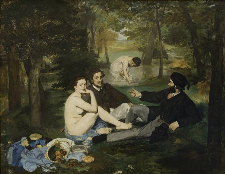 """""""Colazione sull'erba"""" 1862-1863  Dimension: 208 x 265,5 cm  Musée d'Orsay, Parigi"""