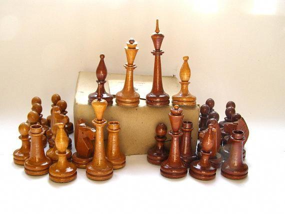 Nos Soviet Chess Set Large Chess Set Ussr Vintage Tournament