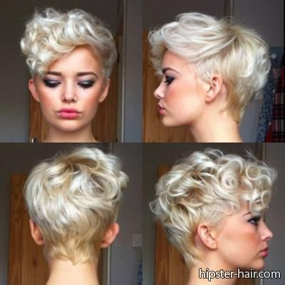 short, blonde, pixie, curly hair at Hipster Hair : Hairstyle Photo ...