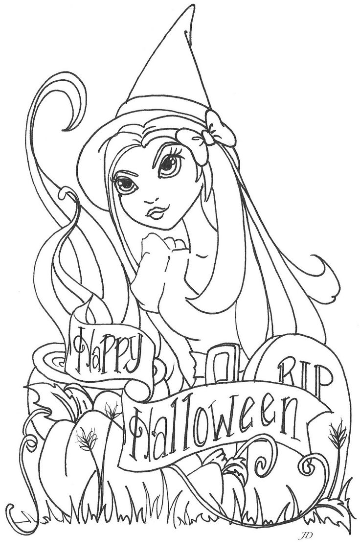 Halloween art therapy coloring pages - Jamie Dougherty Designs Halloween Digi Stamps