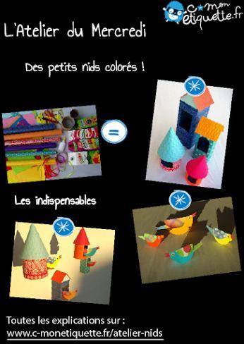 Construisez de jolies cabanes pour les oiseaux avec notre Atelier du Mercredi ! Explications ici : http://www.c-monetiquette.fr/atelier-nids