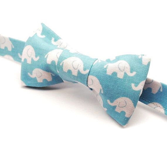 Elephant Bow tie by FlyTiesforFlyGuys