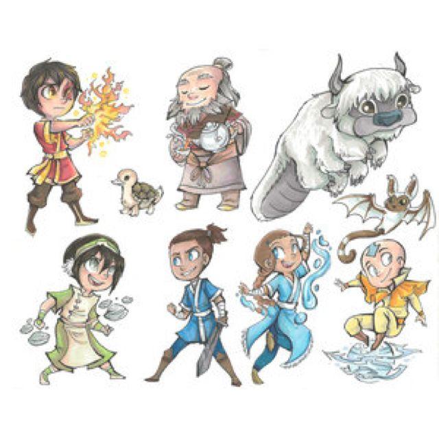 Avatar chibis Taken from devianart Credits to the artist