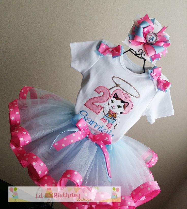 Sheriff Callie Birthday TuTu Outfit and Hair Bow1st