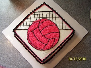 Volleyball cake for Ella