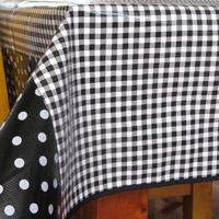 Black Gingham 84 x 56 Oilcloth Tablecloth http://www.retroplanet.com/PROD/34232