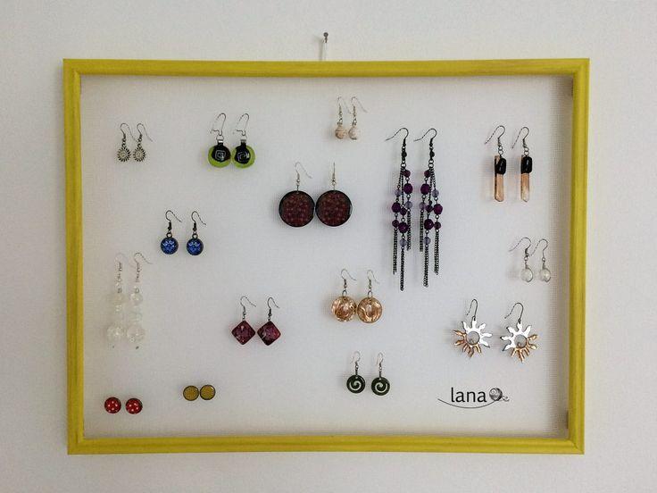 Rám na náušnice / Earrings frame organizer - free tutorial