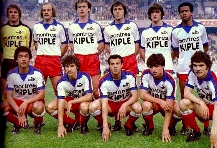 Olympique Lyon team group in 1978. Baseball cards
