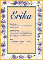Nombre Erika