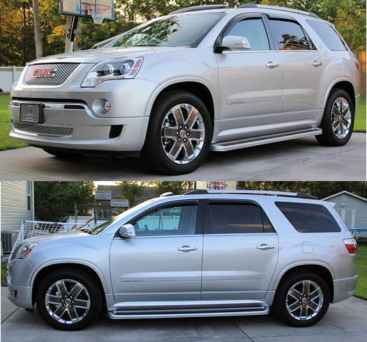 GMC Acadia Denali Running Boards. Now this looks sharp painted to match the vehicle!