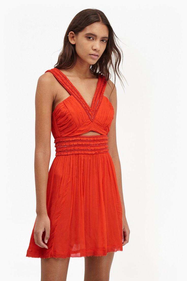 Embellished Maize Knots Chiffon Dress | Dresses | French Connection Usa