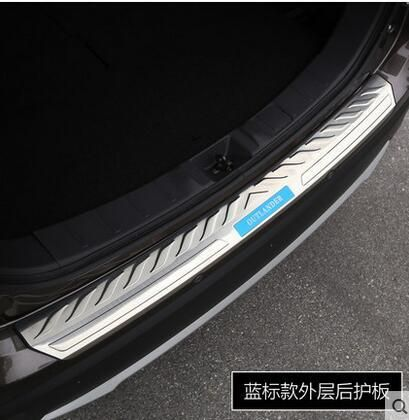 [Visit to Buy] Stainless Steel Rear Bumper Protector Sill Trunk Tread Plate Trim Fit For Mitsubishi Outlander 2016 with blue or black  #Advertisement