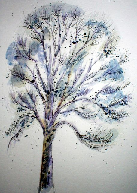 QUICK ASH TREE SKETCH    20 MINUTE WATERCOLOR & INK        Love this!