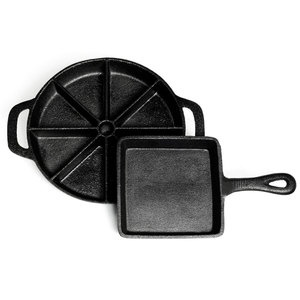 Square And Cornbread Skillet Set now featured on Fab. Only $22!! I have been wanting a cast iron set for a while!