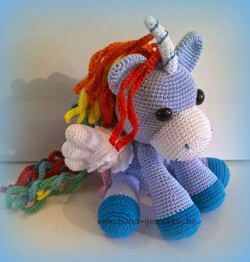 Gehaakte eenhoorn - crochet unicorn