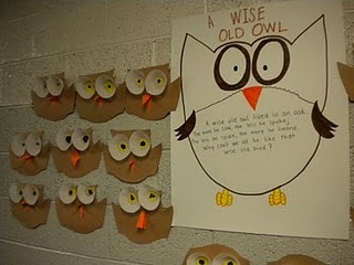 Wise owls (use cupcake liners for the eyes)