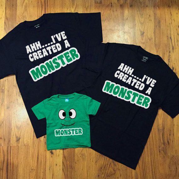 AHH...I've Created A Monster Family T-shirts 3-Pack by DeLaMaison