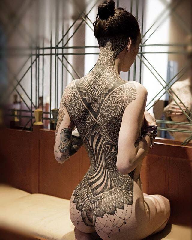 tattoo, girl, all back Brilliant