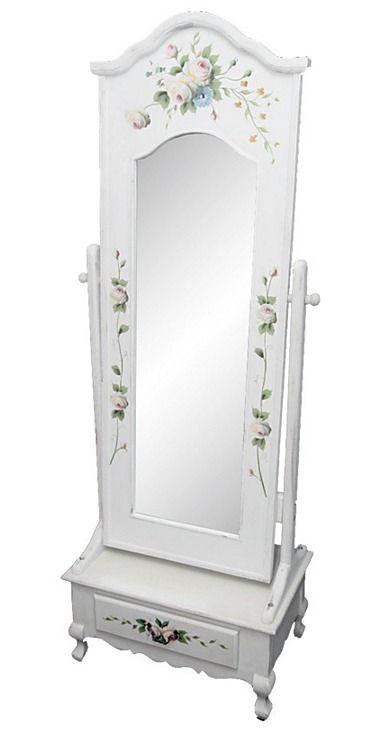 Vintage zrkadlo Kvety 2 - Najlepsinabytok.sk - Doprava ZDARMA!
