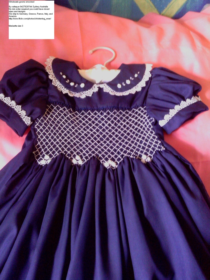 1920 pattern revived smocked hand embroidered lined cutiepye australia 0427820744