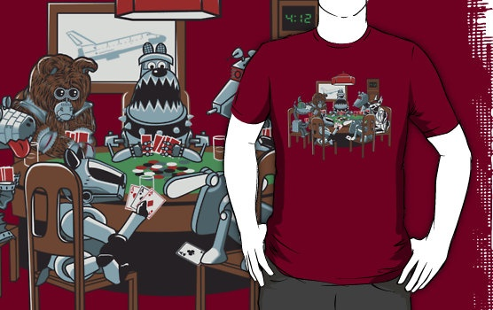 T-shirt of Robot Dogs Playing Poker