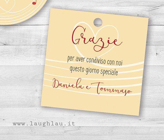 Segnaposto Matrimonio Musica.50 Tag Ringraziamento Segnaposto Matrimonio Tema Musica Sposi