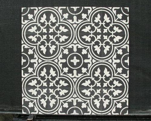 Flowerz Zero Black-White portugese tegels