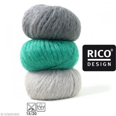 Laine Rico Design - Fashion gigantic mohair - 100 gr - 40% acrylique 30% mohair 30% polyamide - Photo n°1