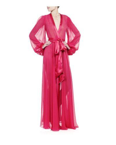 Jenny Packham   Pink Silk Robe   Lyst