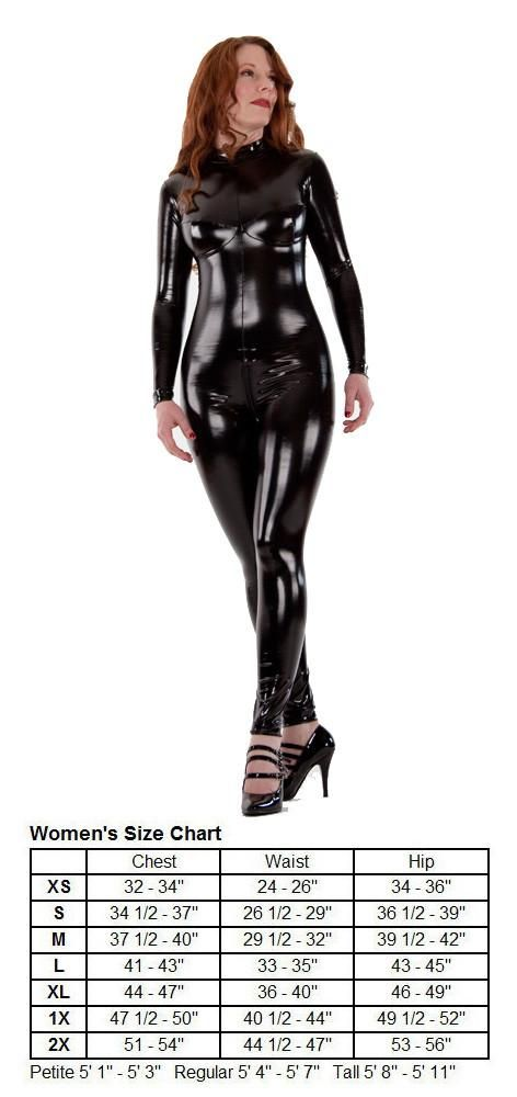 PVC Catsuit with Bust Cups