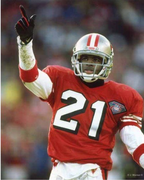 49ers 21 deion sanders white 75th throwback jersey abd436f9d